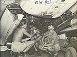 Bombing up 13 Squadron RAAF Ventura Jun 1945 AWM NWA0926.jpg