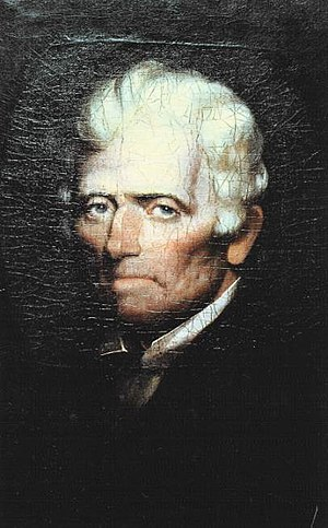 Siege of Boonesborough - An elderly Daniel Boone in 1820.