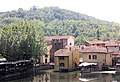 Borghetto (Valeggio sul Mincio), view from the Visconti bridge to the village.JPG
