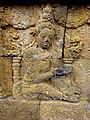 Borobudur - Divyavadana - 007 E, The Chaplain advises Sudhana's Father to send him to War (detail 2) (11703701083).jpg