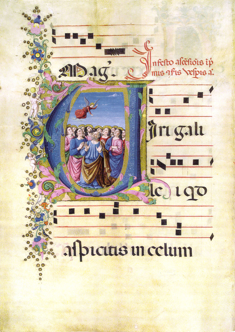 Bottega di domenico ghirlandaio, ascensione, antifonario edili 148 f. 47v. biblioteca medicea laurenziana.jpg