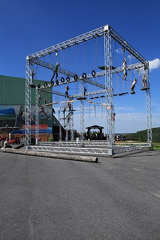 Ropes course - Rope climbing at the Alpine Center Bottrop, built by insight-out, Germany