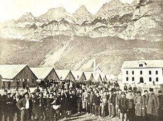 Armée de l'Est - Interned Soldiers at Walenstadt, Spring 1871