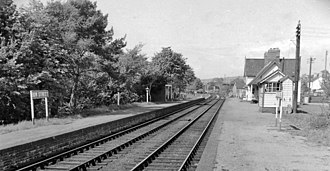 Cambrian Line - Bow Street station in 1962