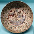 Bowl, Minai ware, Iran, late 12th century AD, quartz frit ceramic - Linden-Museum - Stuttgart, Germany - DSC03878.jpg