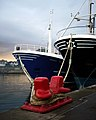 Bows and a bollard, Bangor - geograph.org.uk - 1575847.jpg