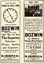 Bozwin newspaper advert, 1930s.jpg