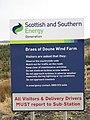 Braes of Doune wind farm sign - geograph.org.uk - 1111081.jpg