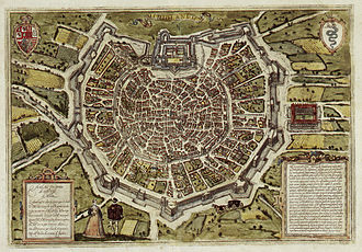 Milan - The late 16th-century city encircled by the Spanish walls.