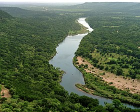 Brazos River nedenfor  Possum Kingdom Lake (Palo Pinto County, Texas)