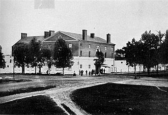 The Old Brick Capitol serving as a prison during the Civil War BrickCapitol.jpg
