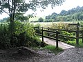Bridge to the footpath taking you back to the village centre - geograph.org.uk - 924846.jpg