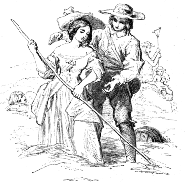 HAYMAKING. BY W. MULREADY, R.A. Engraved by John Thompson