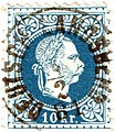 Briefmarke 10 Kreuzer Österreich 1874.jpg