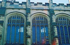 St Peter's Church, Brighton - Image: Brighton St Peter Chancel Windows 01
