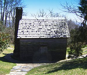 National Register of Historic Places listings in Alleghany County, North Carolina - Image: Brinegar's Cabin