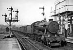 A southbound parcels train passes through Stapleton Road in 1958.
