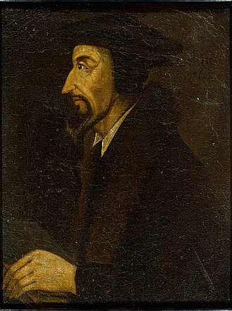 History of Purgatory - John Calvin, unknown artist, British School, inscribed 1564