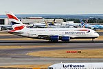 British Airways, G-XLEB, Airbus A380-841 (43687781244).jpg