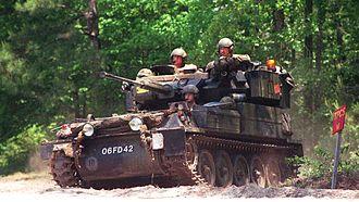 Armoured reconnaissance - One of the British CVR(T) variants - FV107 Scimitar