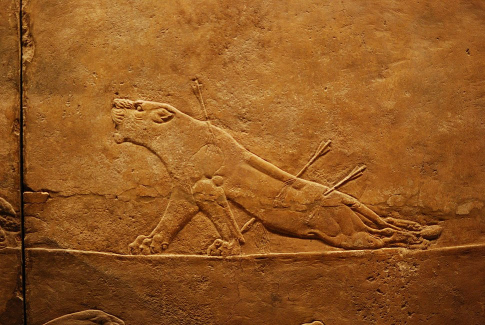 British Museum Room 10 lion hunting
