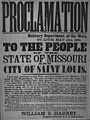 Broadside proclamation of Brigadier General Harney, Military Department of the West, St. Louis, May 12, 1861.jpg