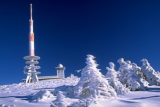 Harz - Sender Brocken at the summit in winter
