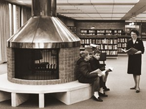 Brookdale Library - Brooklyn Center Library interior, 1965.