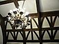 Bucuresti, Romania. MUZEUL NATIONAL COTROCENI. Dormitor imperial. Plafon cu candelabru. (B-II-a-A-19152).jpg
