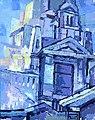 Budapest sorozat Szabadság tér olaj, vászon 40x52cm 2010.jpg