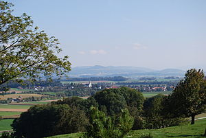 Bünzen, Aargau - Bünzen, seen from Restaurant Jäger-Stübli at Kallern, AG
