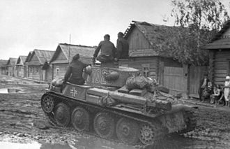 7th Panzer Division (Wehrmacht) - A Panzer 38t in the Soviet Union, June 1941