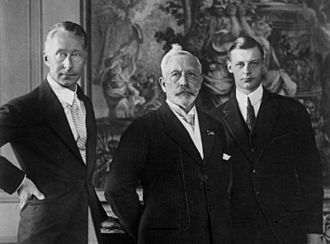Wilhelm, German Crown Prince - With his father and his son, Prince Wilhelm, in 1927