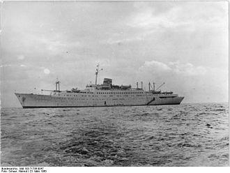 MV Astoria - The ship in 1961, sailing as Völkerfreundschaft