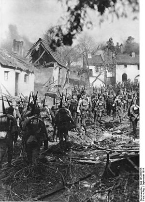 Order of battle at Tannenberg (1914) - German infantry on the march, September 1914