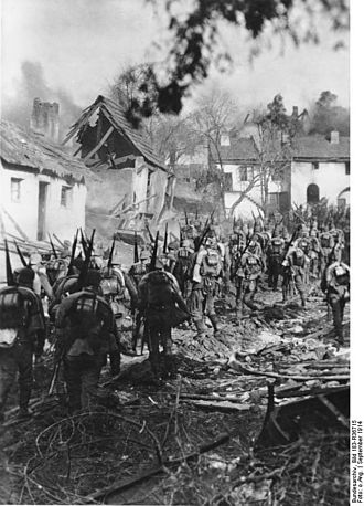 Battle of Tannenberg - German infantry during the battle of Tannenberg