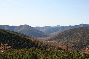Magadan Oblast - Burkhalinsky Pass as seen from the Susuman side