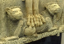 Detail of lions