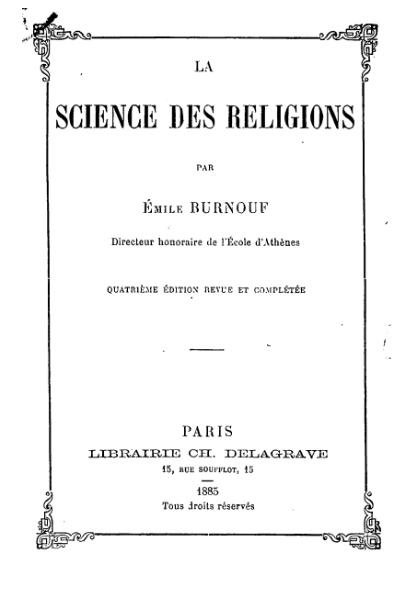 File:Burnouf - La Science des religions.djvu
