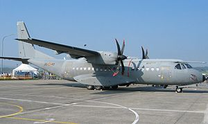 Casa C-295 of the Spanish Air Force in Payerne