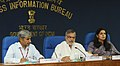 C.P. Joshi addressing a Press Conference on the on-going activities, performance & achievements of Ministry of Road Transport & Highways, in New Delhi. The Secretary, Ministry of Road Transport & Highways.jpg