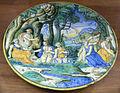 C.sf., urbino, bottega di guido durantino, piatto, 1530-1550 circa.JPG