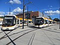 CAF streetcars parked outside Cincinnati Streetcar maintenance building in 2016.jpg