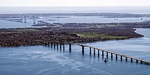 The Jamestown Verrazzano Bridge and Claiborne Pell Newport Bridge