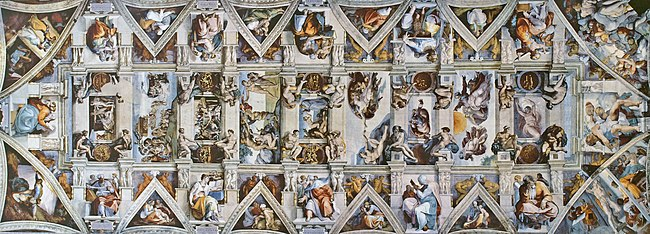 Image result for michelangelo sistine chapel
