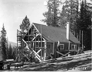 Boise National Forest - Image: CCC crew constructing a guard station at the Boise National Forest, Idaho (3226039413)