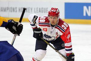 Arttu Luttinen - Image: CHL, HC Davos vs. IFK Helsinki, 6th October 2015 57