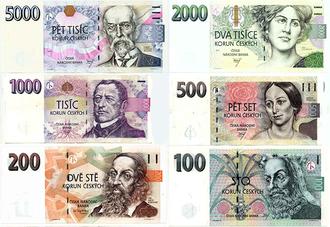 Czech koruna - Image: CZK Banknotes 2014