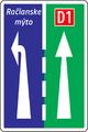 C 25 - Radenie jazdných pruhov pred križovatkou (vzor) 3.png
