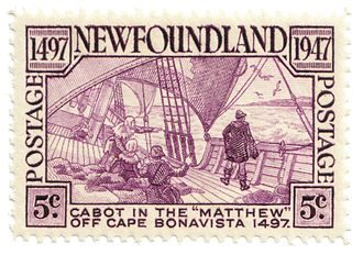 History of Canada - A 1947 stamp celebrating John Cabot's second voyage
